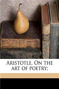 eBook Aristotle, On the art of poetry; download